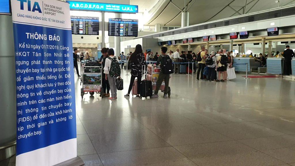 Thông báo của cảng hàng không quốc tế Tân Sơn Nhất về việc ngưng thông báo